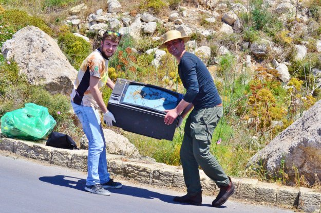 500kgs of waste collected from Hondoq and Ramla clean-up last weekend