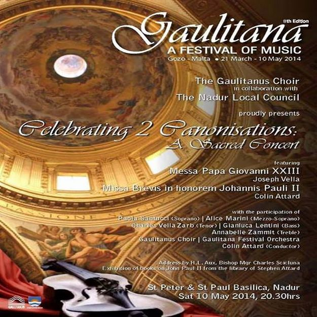 Celebrating 2 Canonisations: Sacred Concert at the Nadur Basilica