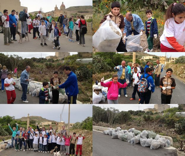 88km walked & 448 rubbish bags filled during Gozo Rocks! Clean & Green Hikes