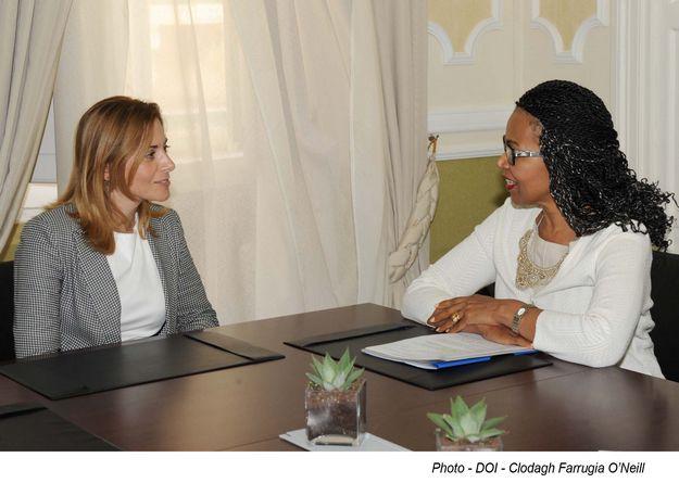 Dr Justyne Caruana recieves courtesy call from the USA Ambassador