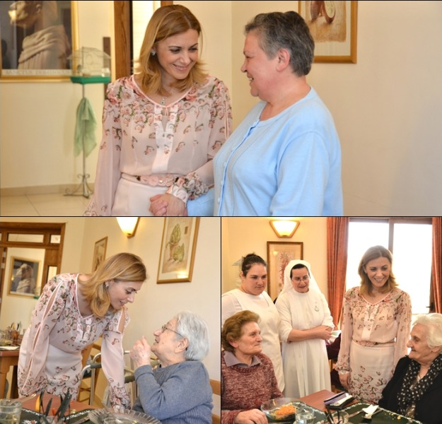 Justyne Caruana visits elderly at Dominican Nuns Home in Victoria