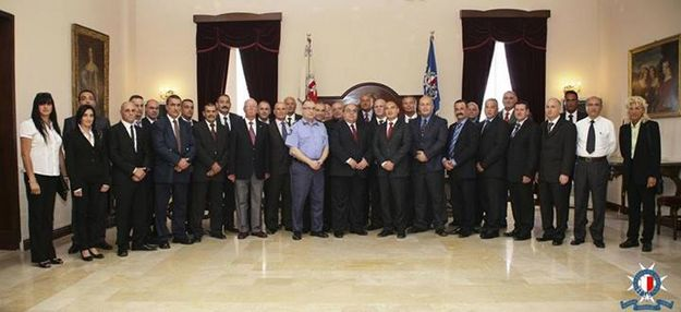 Malta Police Force ceremony held for reinstatement of police officers
