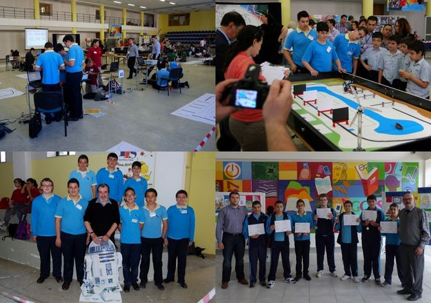 Team from Gozo College Boys' Secondary take part in Malta Robotics Olympiad 2014