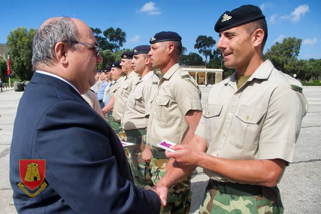 Armed Forces of Malta medal awarding ceremony held at Luqa Barracks