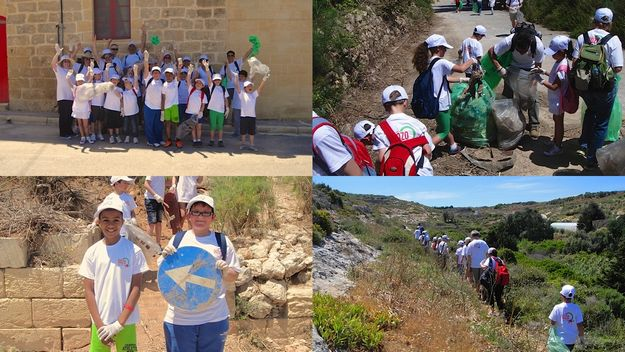 Gozo-Rocks last clean-up hike to complete entire perimeter of Gozo