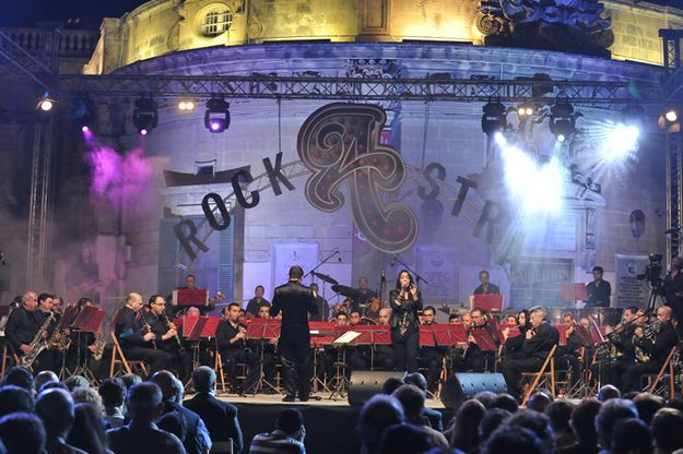 'ROCKASTRA 2014' with the La Stella Philharmonic Band in Victoria, Gozo