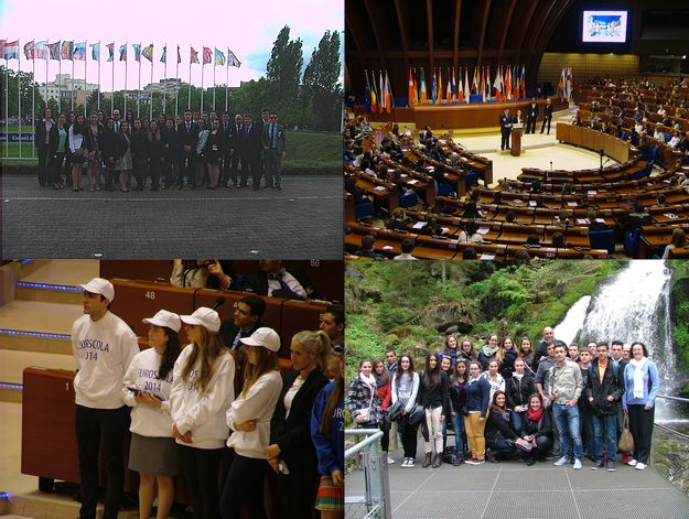Sir Michelangelo Refalo Sixth Form students visit Strasbourg for Euroscola Day