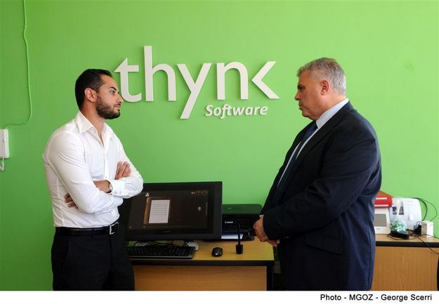 Gozo Minister visits Thynk Software which is expanding its Gozo business