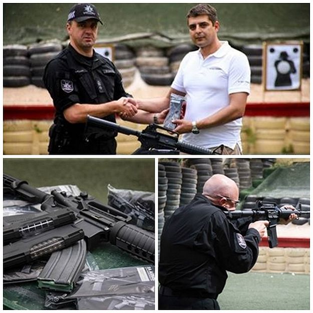 Rapid Intervention Unit supplied with new magazines for their M-16 assault rifles