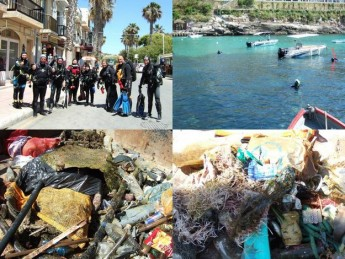 Gozo joins in with 20 other countries to clean-up the Mediterranean