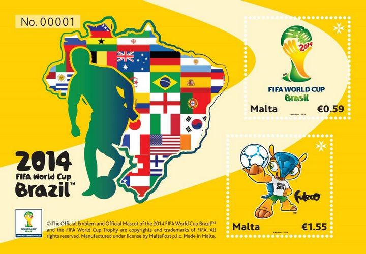 MaltaPost commemorates FIFA World Cup™ with minature sheet