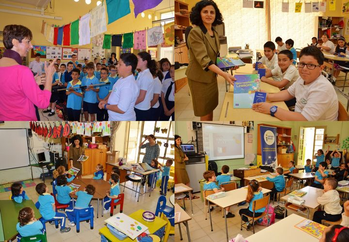 Gharb school children learn about the EU during visit by EDIC Gozo