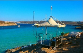 New ERRC watch tower installed at the Blue Lagoon, Comino
