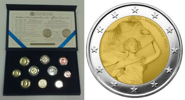 Centra Bank of Malta issues new Euro Coin Set Dated 2014, including €2 coin