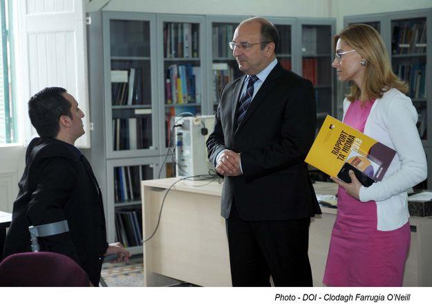 Minister Michael Farrugia & Parliamentary Secretary Justyne Caruana visit KNPD