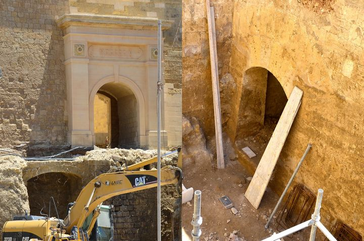Restoration works uncover historical remains beneath the Citadel