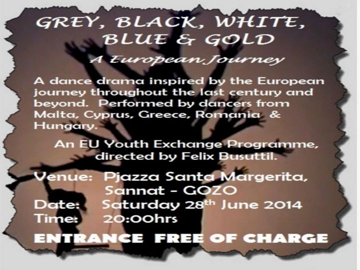 'Grey, Black, White, Blue & Gold' - Next Saturday evening in Sannat