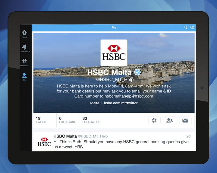 HSBC Malta helps customers in real-time via Twitter