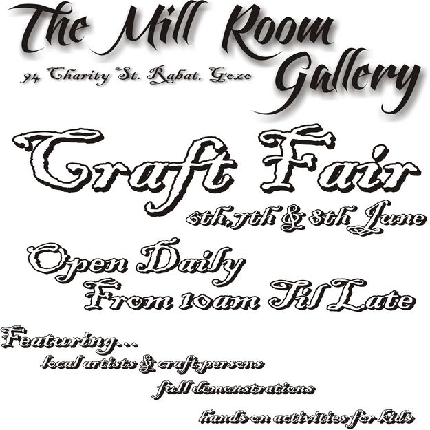 Craft Fair at The Mill Room Gallery in Victoria, opening this weekend