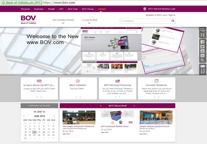 Bank of Valletta launches its new, interactive web portal