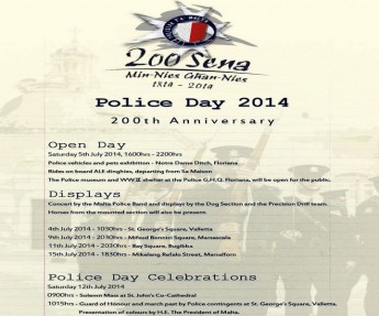 Police Day 2014: 200th anniversary celebrations in Malta & Gozo