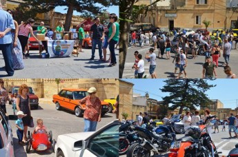 €1266.42 collected in aid of Puttinu Cares at the Sannat Motorfest