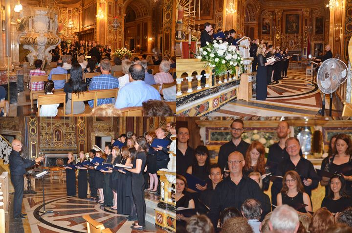 University of London Chamber Choir concert at the Xaghra Basilica