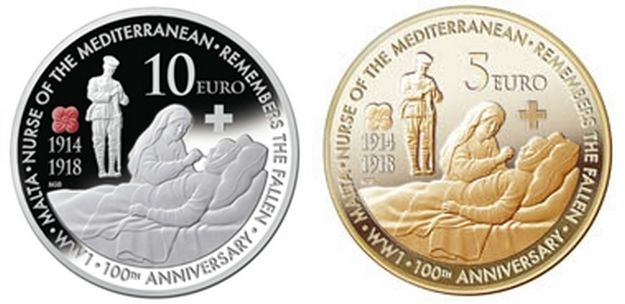 Central Bank of Malta issues numismatic coin: First World War Centenary
