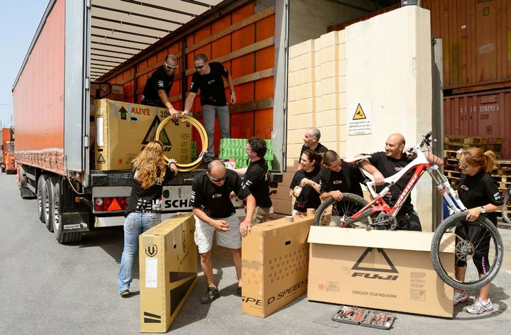 ALIVE cyclists send bikes off to Prague for their 1000 km challenge