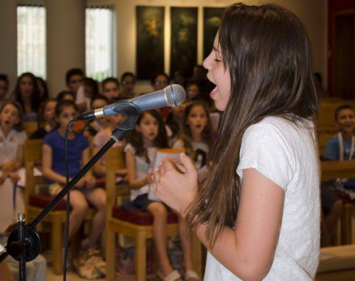 Federica Falzon rehearses with BOV Joseph Calleja Children's Choir