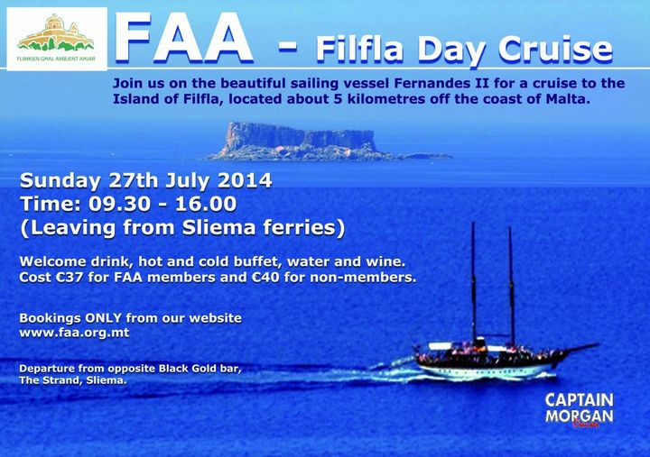 Day cruise to the Island of Filfla with Flimkien ghal Ambjent Ahar