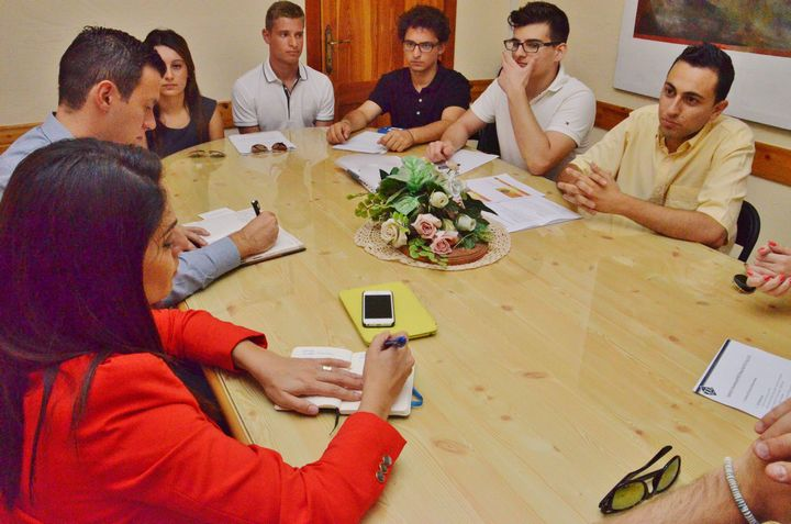 Gozo University Group members meet with MEP Dr Miriam Dalli