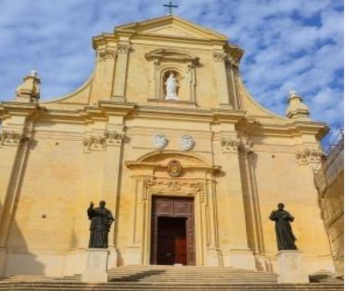 Restoration work completed on the Baroque façade of Gozo Cathedral
