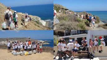 Gozo-Rocks! Clean & Green Hikers complete the perimeter of Gozo