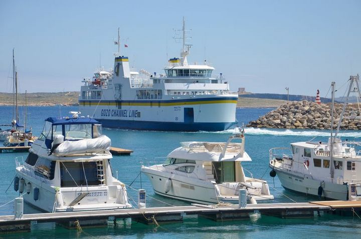 Gozo Channel operating dedicated cargo trips from Cirkewwa
