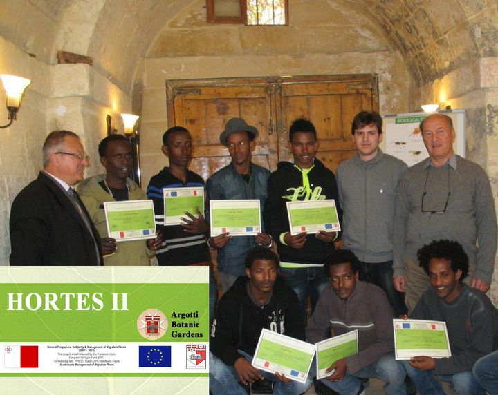 Argotti Botanic Gardens host training for refugees & asylum seekers
