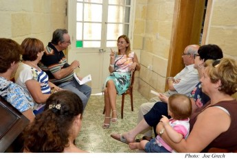 Dr Justyne Caruana meets Gozo Committee members of Nanniet Malta