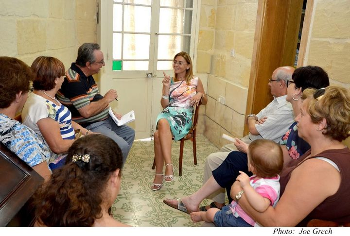 Dr Justyne Caruana meets the Gozo members of Nanniet Malta