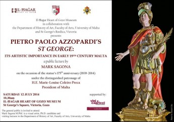 Public lecture: Mark Sagona on the processional statue of St George