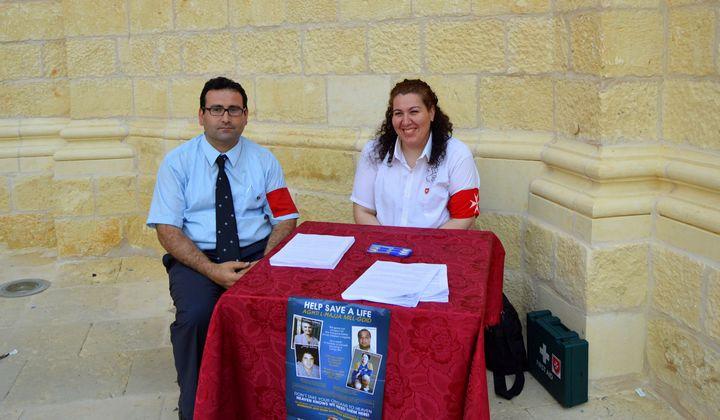 Order of Malta Volunteers in Gozo organise Organ Donors campaign