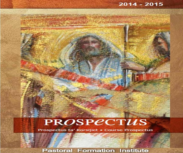 Institute of Pastoral Formation course prospectus for 2014-2015