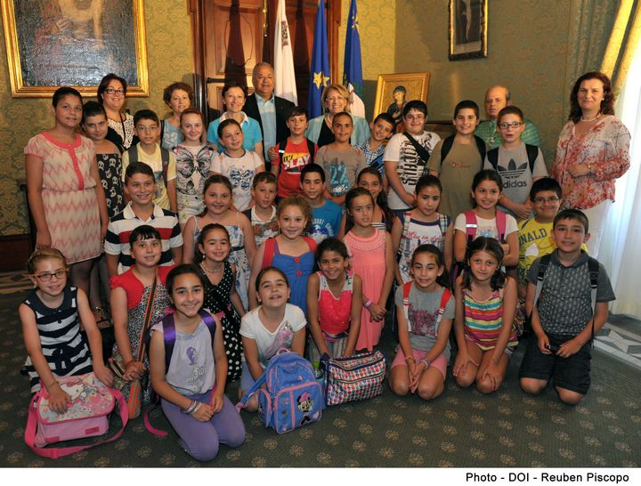 Year 5 Primary students from Gozo visit President Coleiro Preca