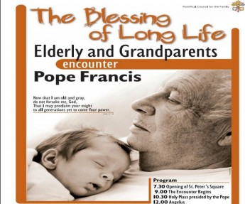 The Pope's first international meeting with the elderly & grandparents