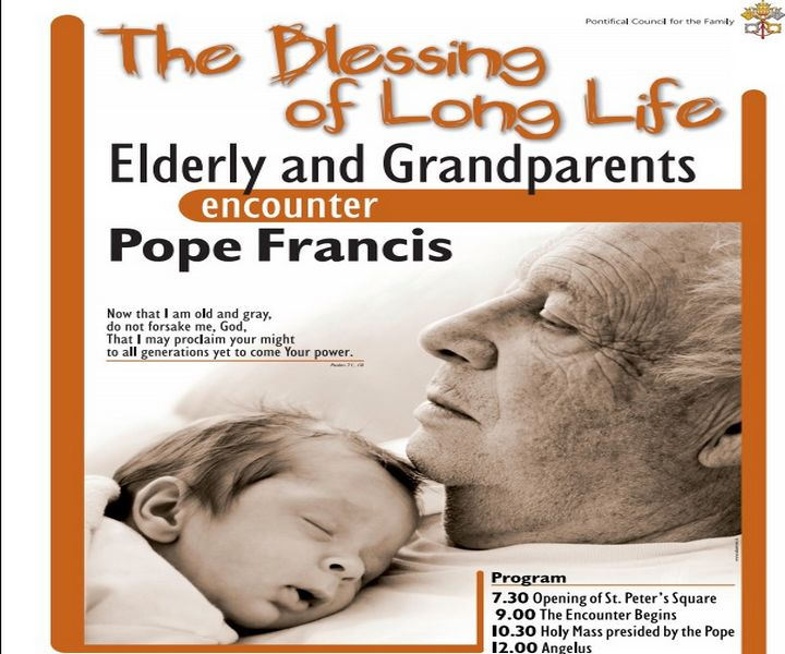 First international meeting by the Pope with the elderly & grandparents