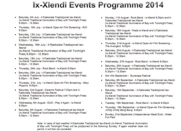 Xlendi Summer Events: Entertainment, fun & enjoyment for all the family