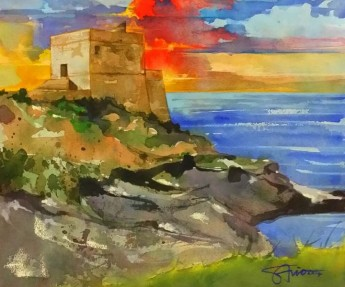 Savio Mizzi watercolour exhibition taking place at 'The Gallery' Qala