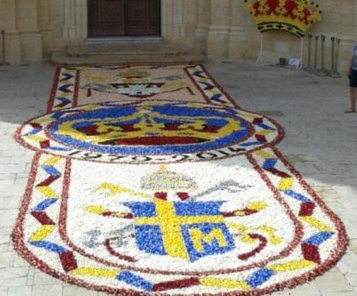 Gharb Infiorata celebrates 2 Popes & titular painting's anniversary