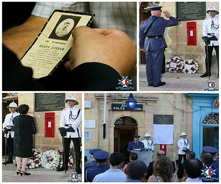Gozo Police Constable Santo Cassar remembered in Zebbug ceremony