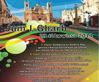 Jum l-Gharb commemoration next week in Pjazza Zjara tal-Madonna