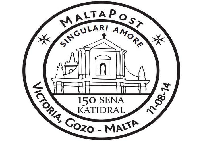 MaltaPost special hand postmark – 150 Sena Katidral – Singulari Amori